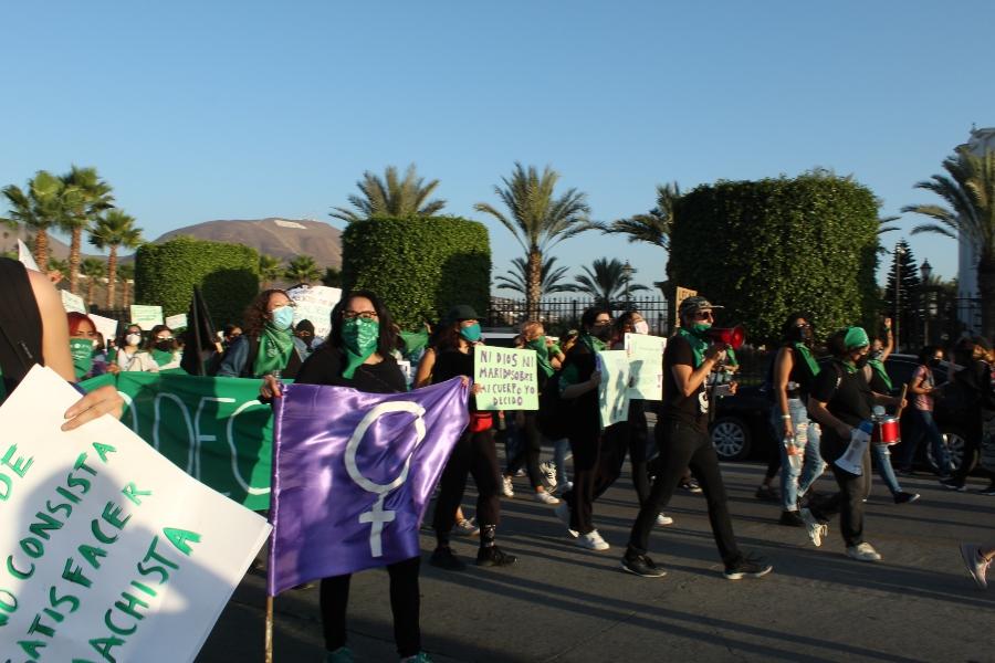 Marcha feminista del 28 de septiembre en Tijuana