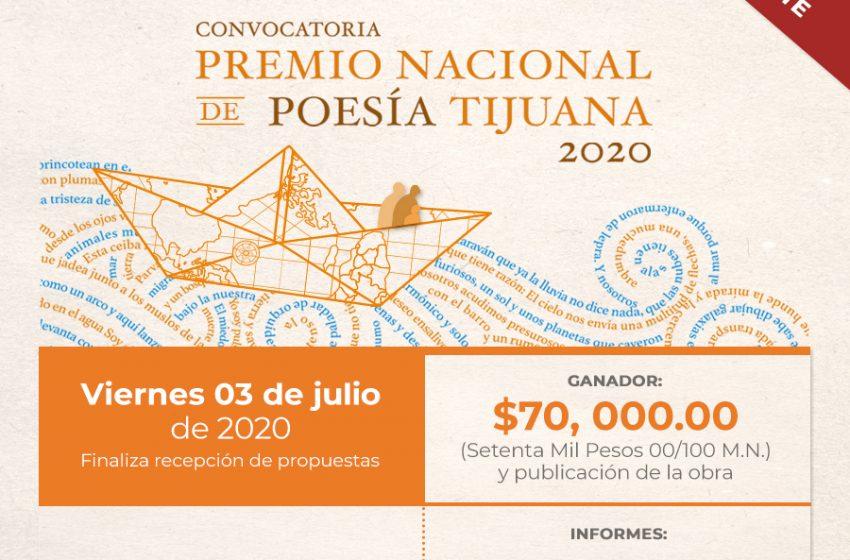 Premio Nacional de Poesía Tijuana 2020, extiende su fecha limite para participar