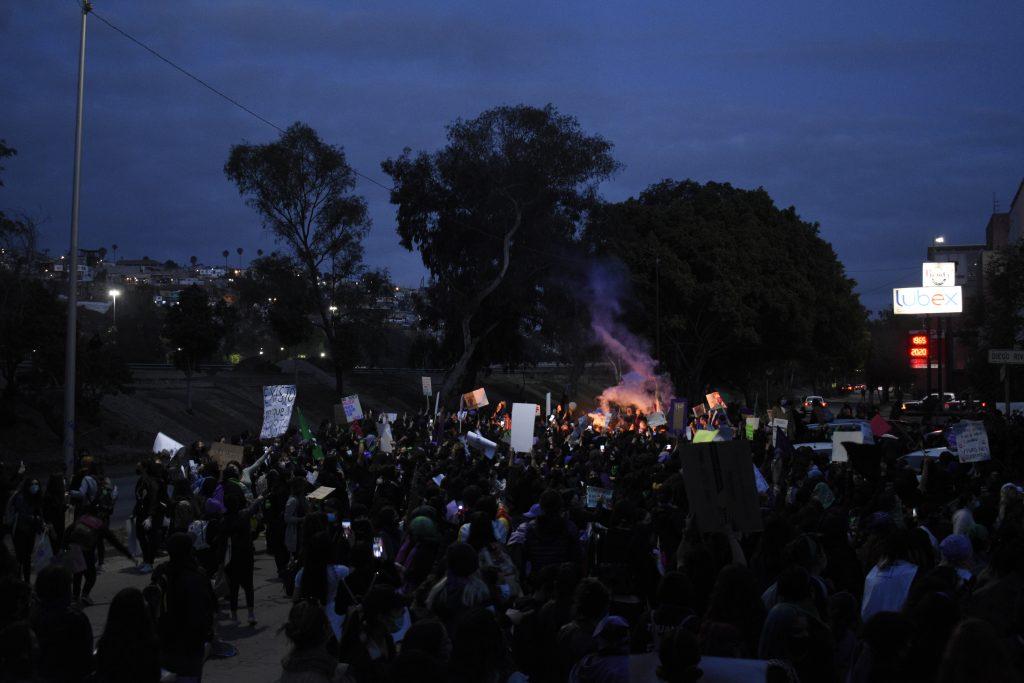 Protesta feminista 8m Tijuana